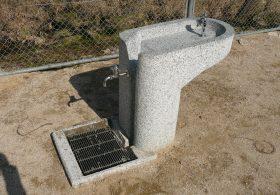 施工事例9 擬石水飲み