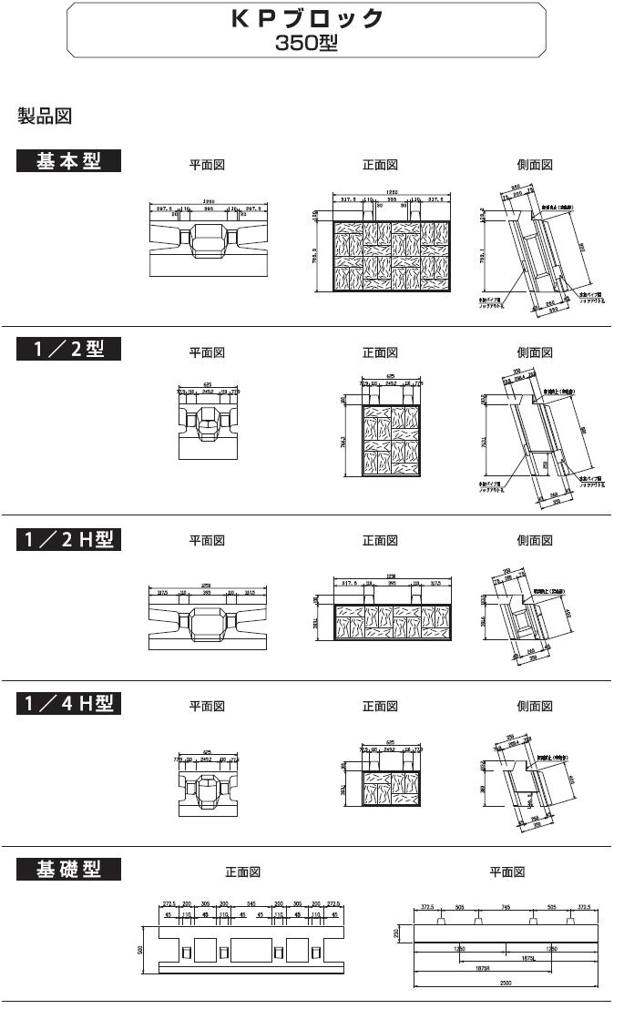 環境ブロック|KPブロック 外形寸法 1