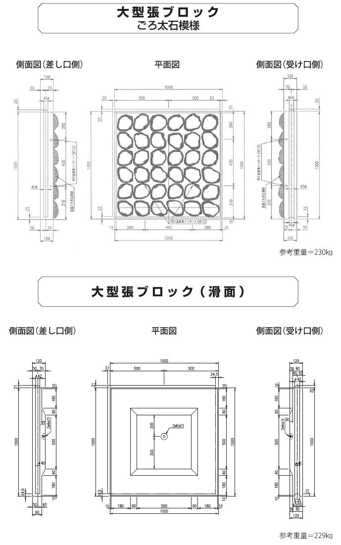 張ブロック|張ブロック 外形寸法 2