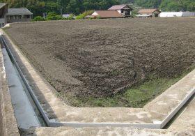 施工事例 圃場整備 水路用・フリューム製品 角フリューム1