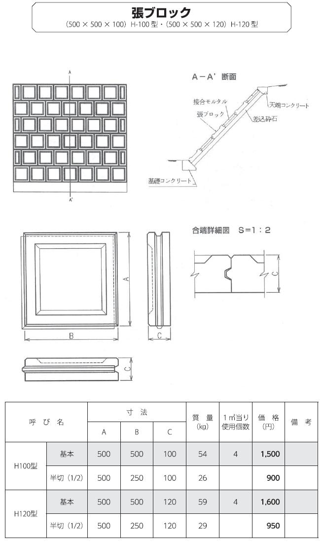 張ブロック|張ブロック 外形寸法 0