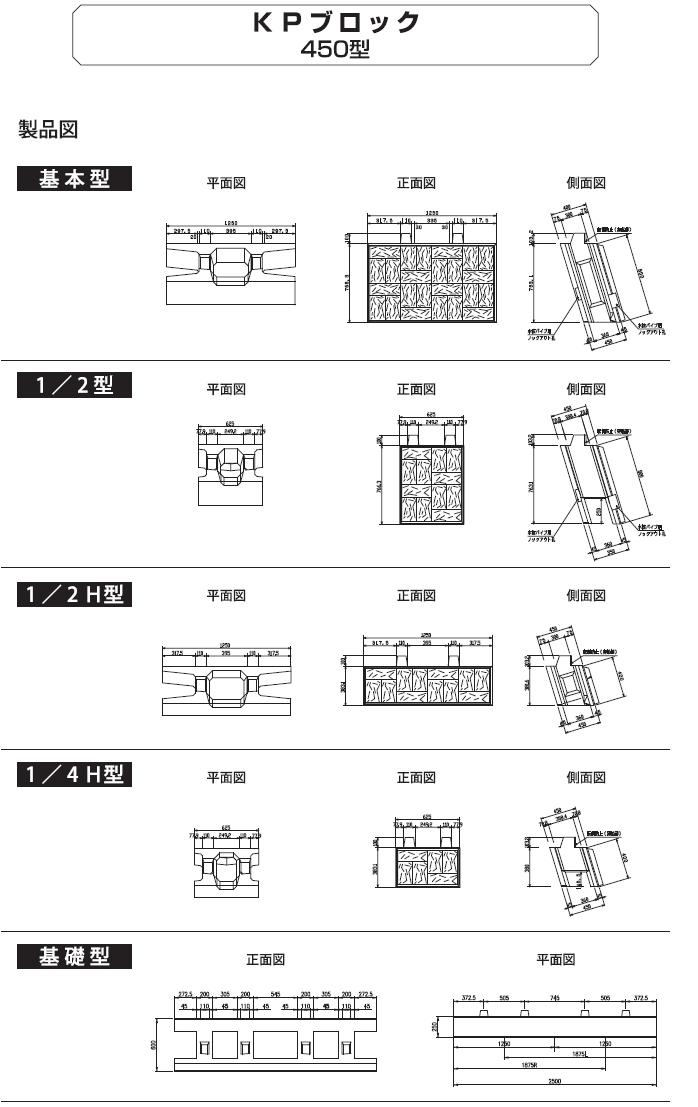 環境ブロック|KPブロック 外形寸法 3