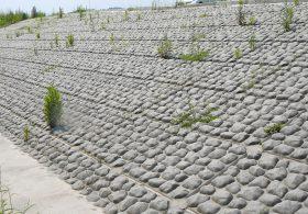 施工事例 法面製品 大型張ブロック(ごろ太石模様)