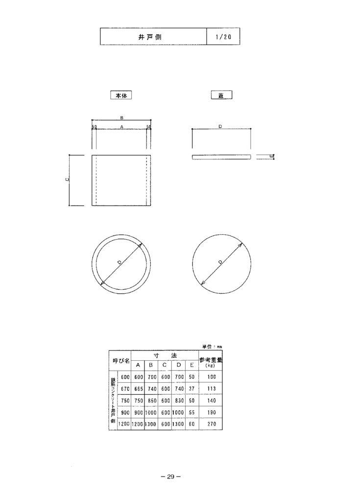 関西コンクリート|井戸側 外形寸法 0