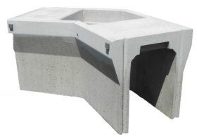 オリジナル側溝|自由勾配側溝(KVS側溝)土留、90°/135°コーナー、蓋